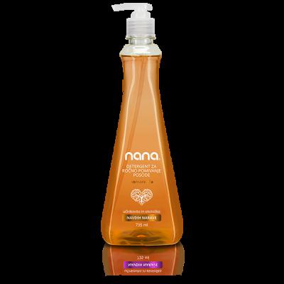 Ekološki detergent za ročno pomivanje posode pomaranča, 735ml